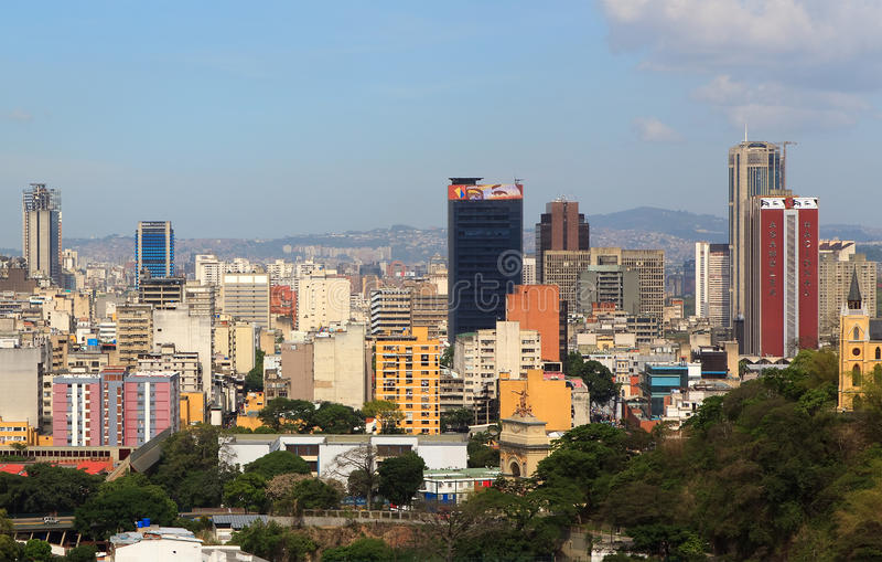 : Horizonte de Caracas - Venezuela céntricas fotos de archivo libres de regalías