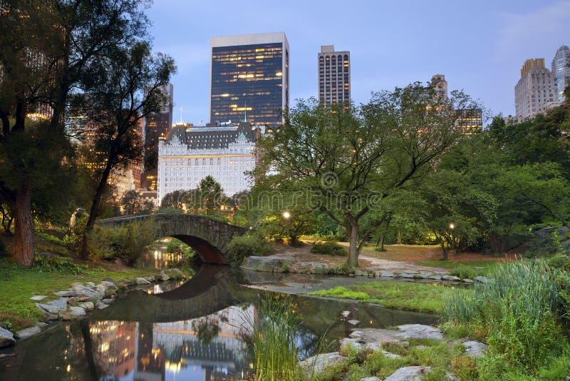 Horizonte de Central Park y de Manhattan. fotografía de archivo
