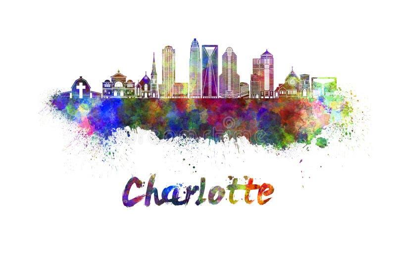 Horizonte de Charlotte en acuarela ilustración del vector