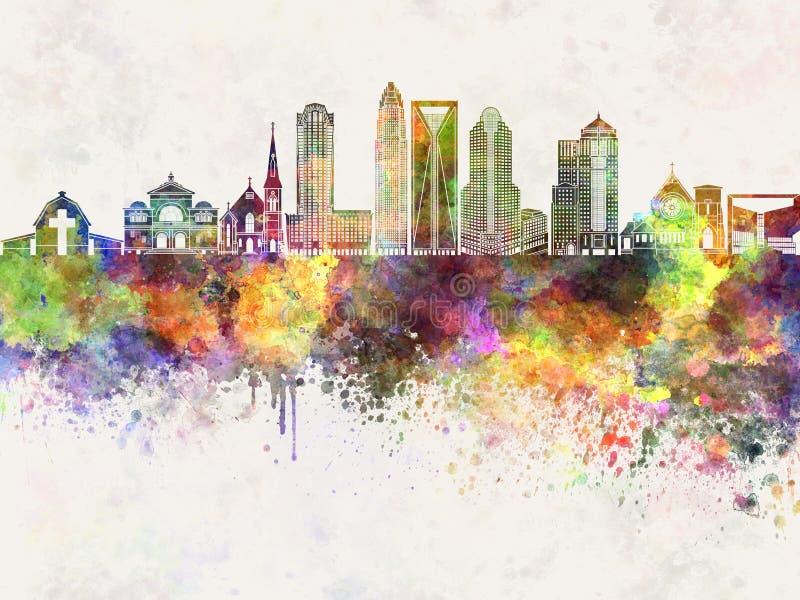 Horizonte de Charlotte en el wb stock de ilustración