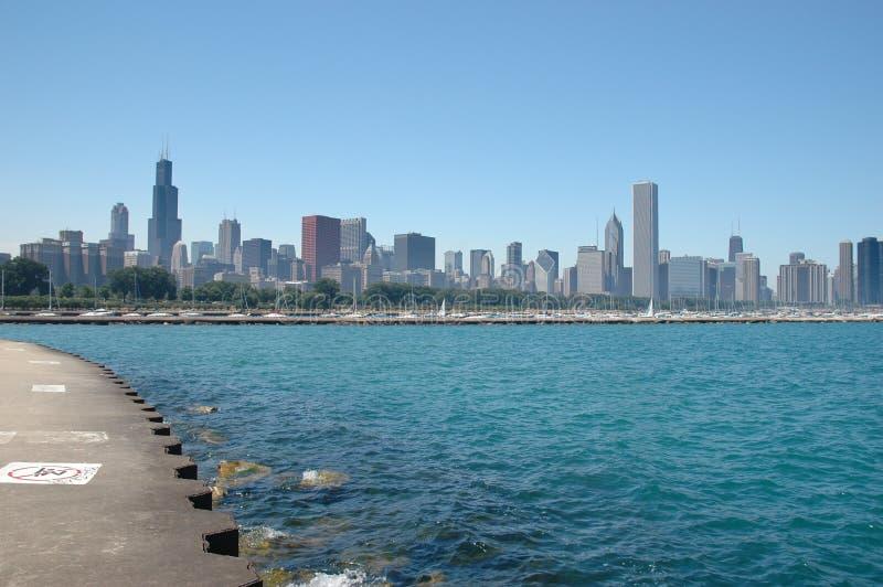 Horizonte de Chicago fotos de archivo