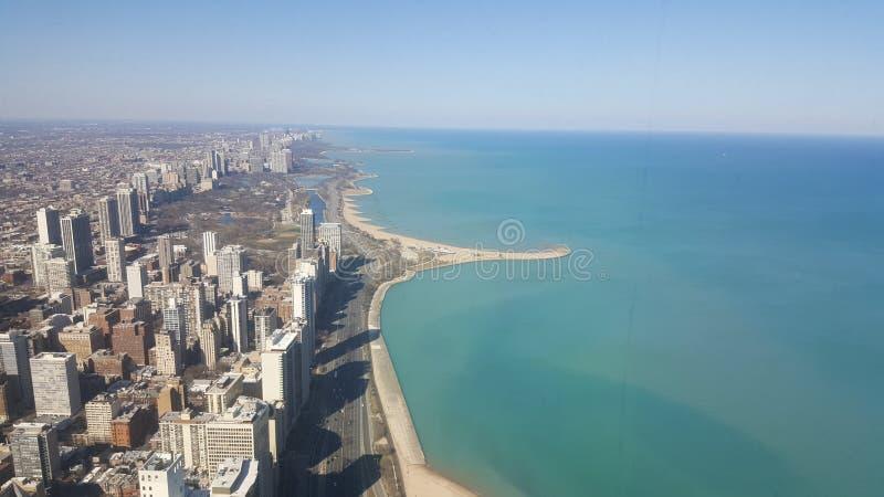 Horizonte de Chicago imagen de archivo