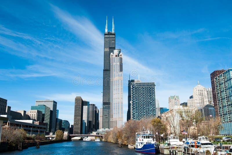 Horizonte de Chicago del sur imagenes de archivo