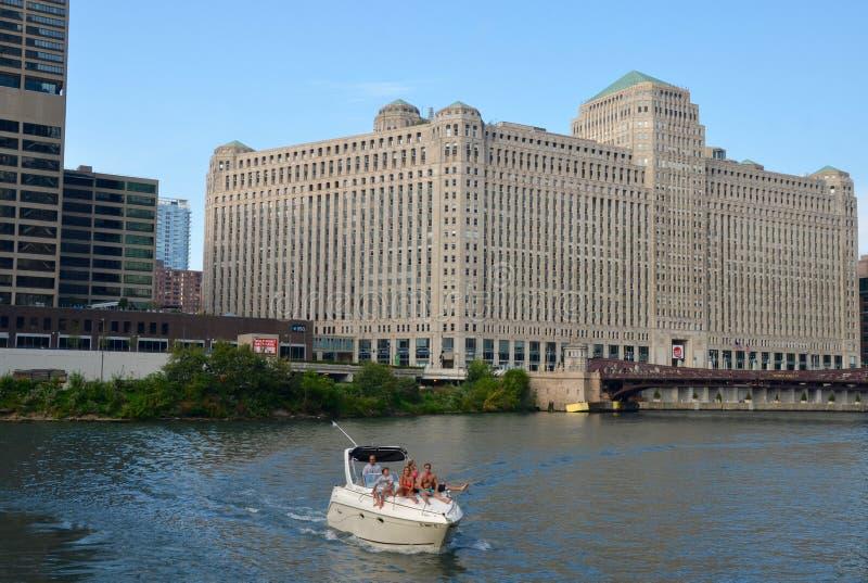 Horizonte de Chicago, los E.E.U.U. foto de archivo libre de regalías