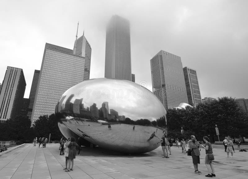 Horizonte de Chicago, los E.E.U.U. foto de archivo