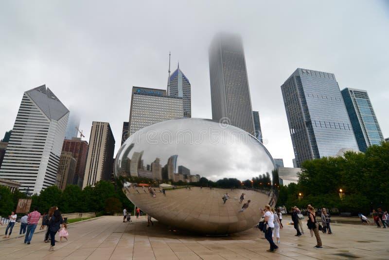 Horizonte de Chicago, los E.E.U.U. fotos de archivo