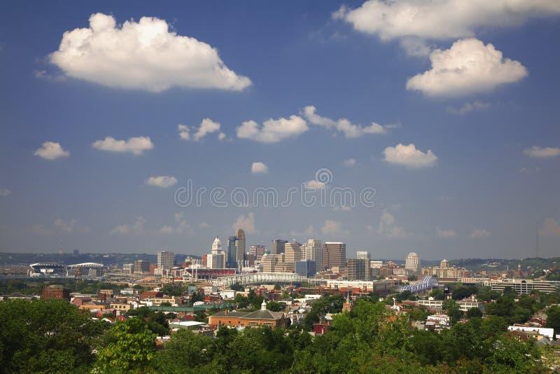 Horizonte de Cincinnati   imagen de archivo libre de regalías