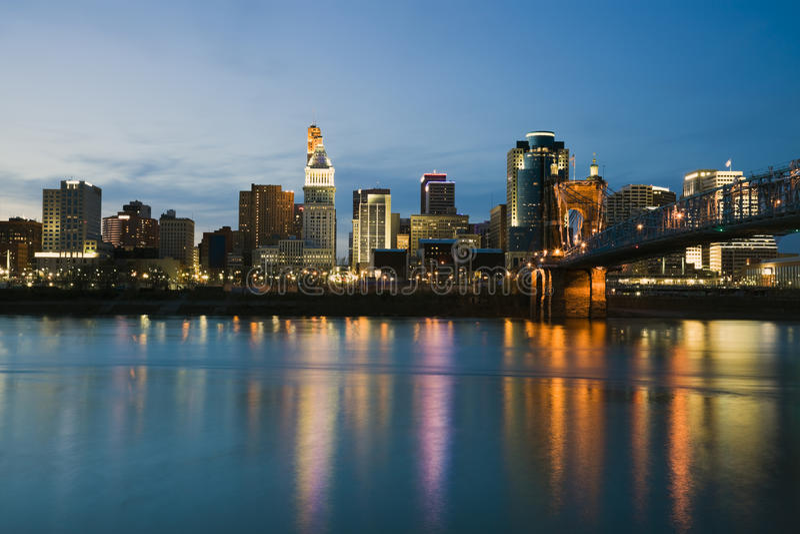 Horizonte de Cincinnati foto de archivo libre de regalías