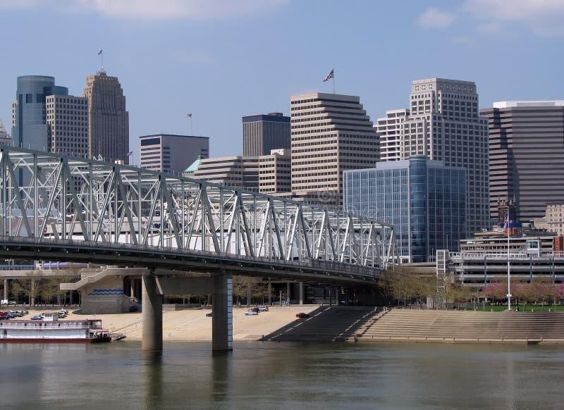 Horizonte de Cincinnati imagenes de archivo