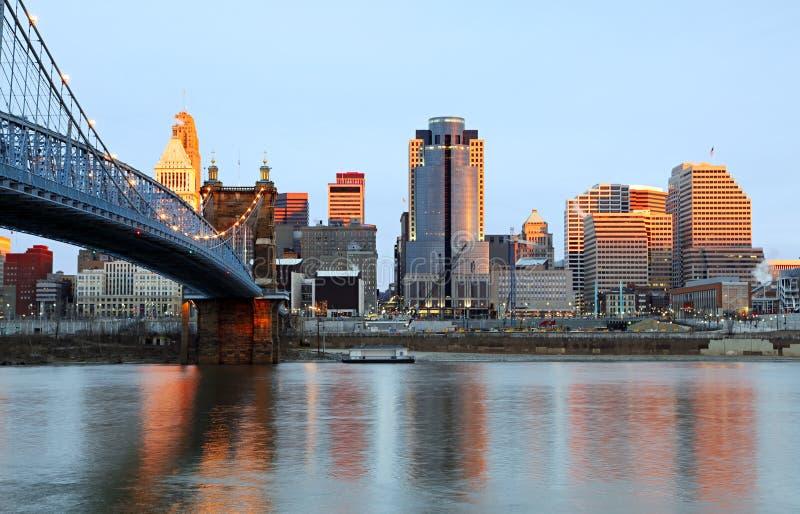 Horizonte de Cincinnati, Ohio. fotografía de archivo