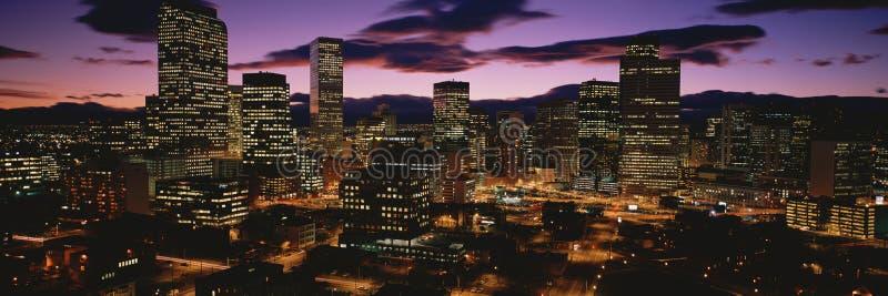 Horizonte de Colorado en la oscuridad fotografía de archivo libre de regalías