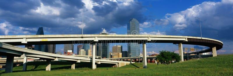 Horizonte de Dallas fotos de archivo libres de regalías