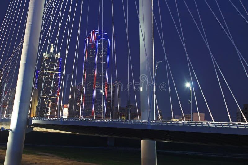 Horizonte de Dallas el 4 de julio imagen de archivo libre de regalías
