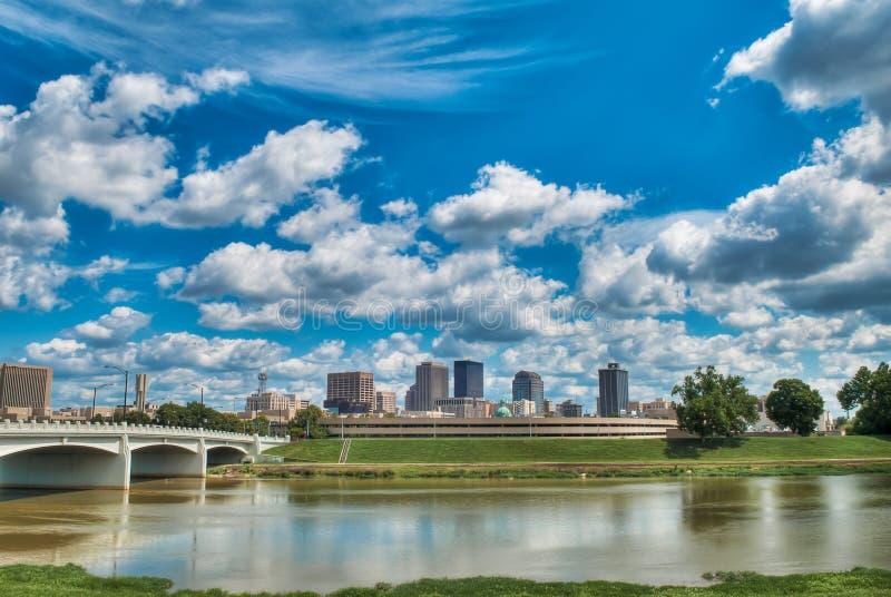 Horizonte de Dayton Ohio fotografía de archivo libre de regalías