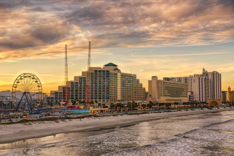 Horizonte de Daytona Beach, la Florida fotografía de archivo