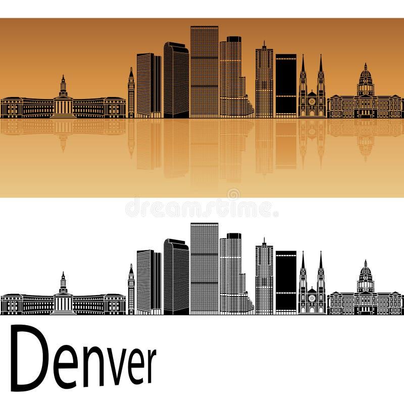 Horizonte de Denver en naranja stock de ilustración