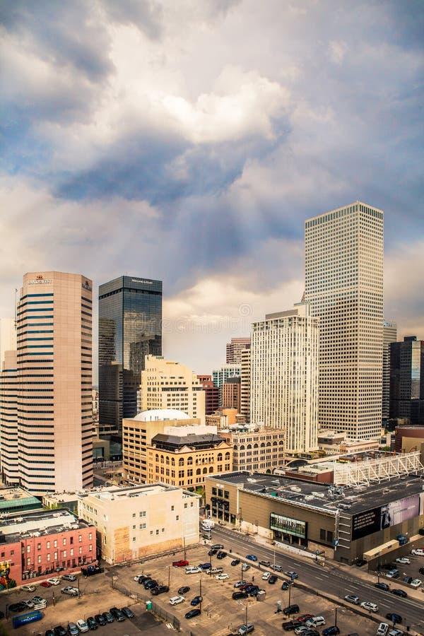 Horizonte de Denver imagenes de archivo