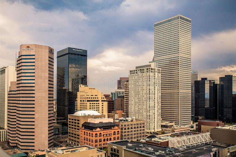 Horizonte de Denver imágenes de archivo libres de regalías