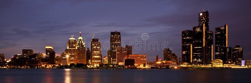 Horizonte de Detroit Michigan fotos de archivo libres de regalías