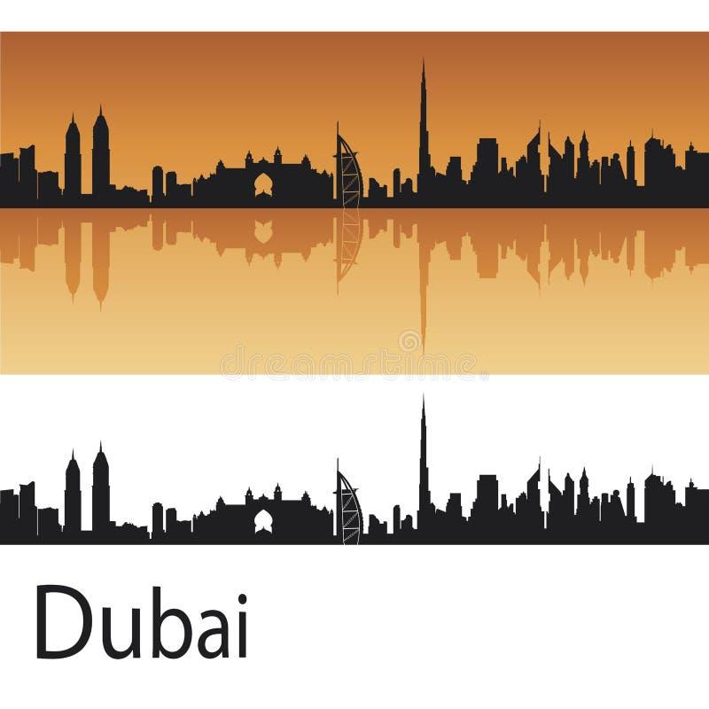 Horizonte de Dubai ilustración del vector