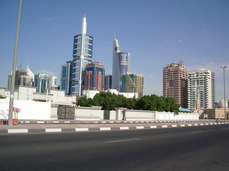 Horizonte de Dubai UAE fotos de archivo
