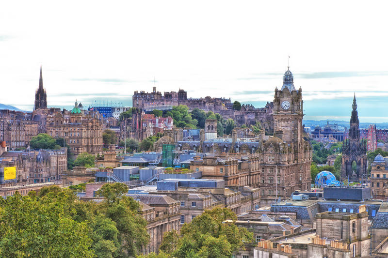 Horizonte de Edimburgo fotografía de archivo