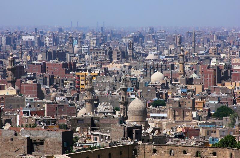 Horizonte de Egipto islámico El Cairo imagen de archivo