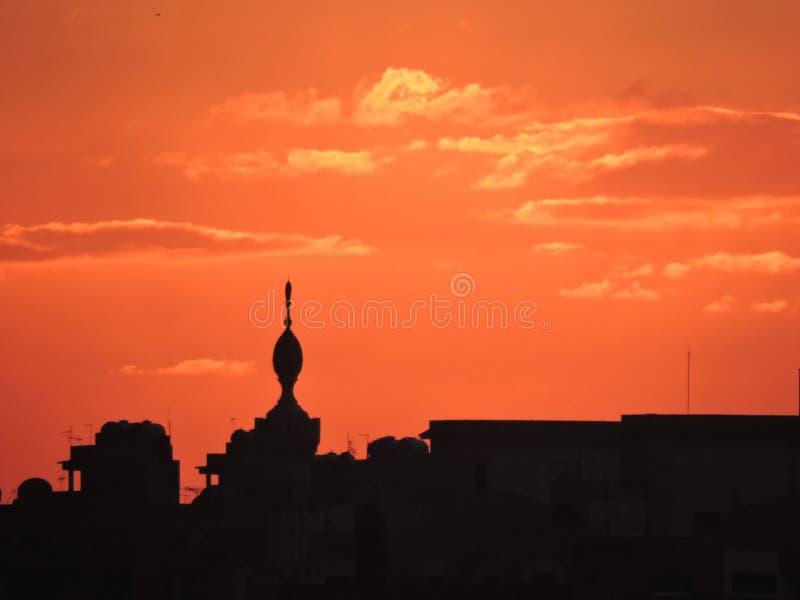 Horizonte de El Cairo fotografía de archivo libre de regalías