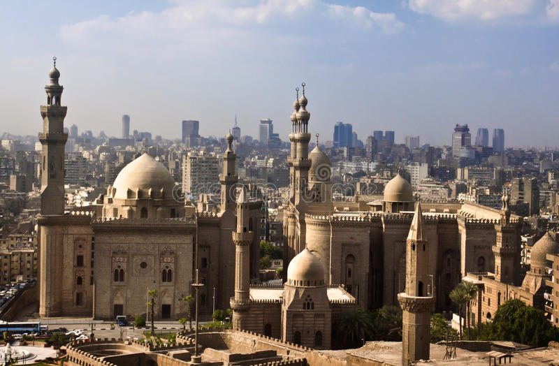 Horizonte de El Cairo, Egipto imagen de archivo
