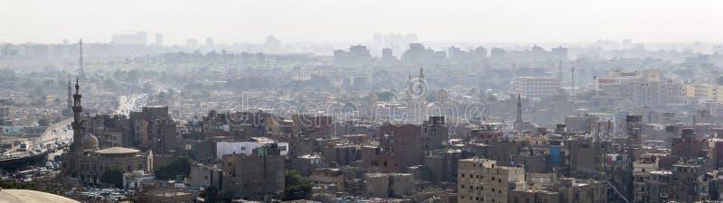 Horizonte de El Cairo panorámico imágenes de archivo libres de regalías