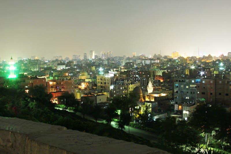 Horizonte de El Cairo viejo imagenes de archivo