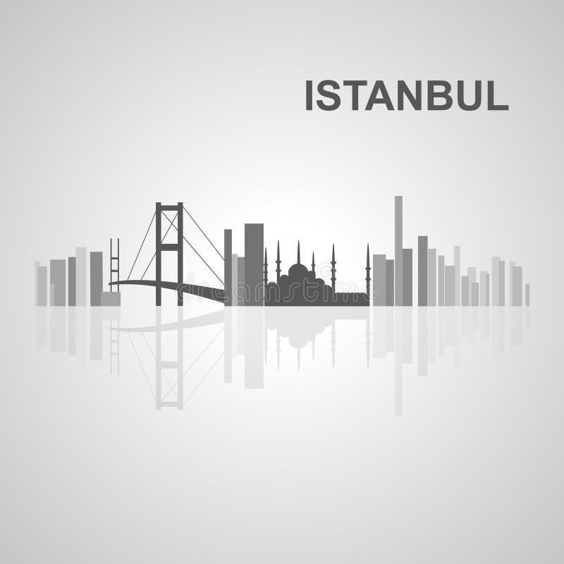 Horizonte de Estambul para su diseño foto de archivo libre de regalías