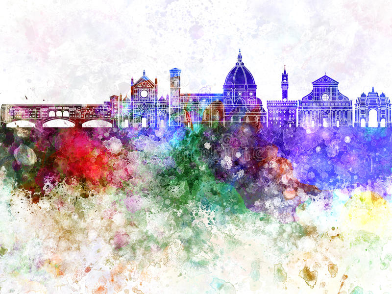 Horizonte de Florencia en el wb stock de ilustración