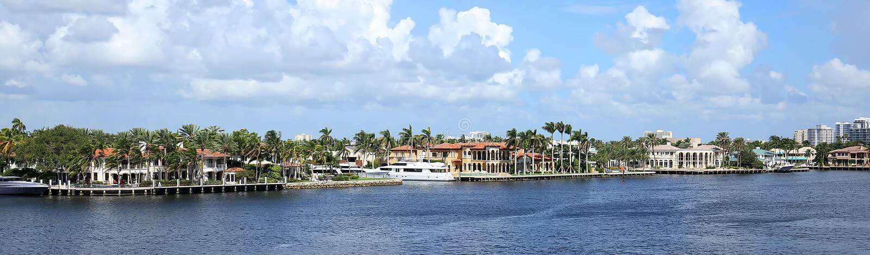Horizonte de Fort Lauderdale fotos de archivo