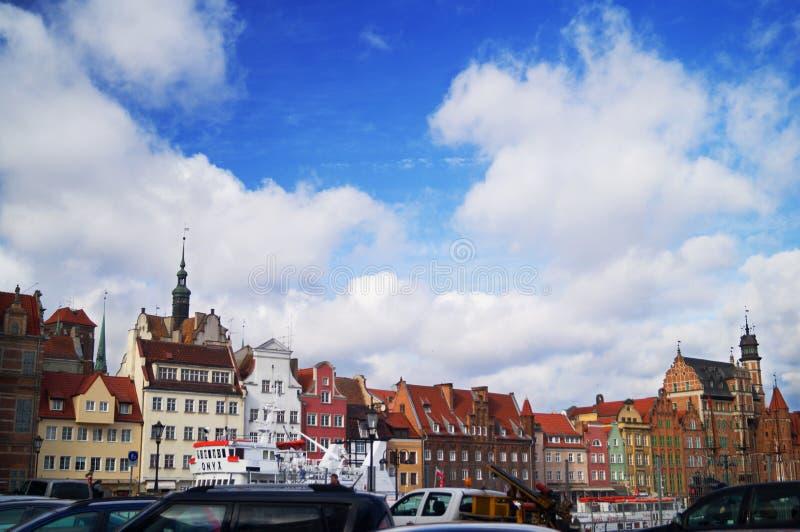 Horizonte de Gdansk foto de archivo libre de regalías