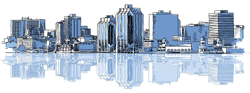Horizonte de Halifax stock de ilustración