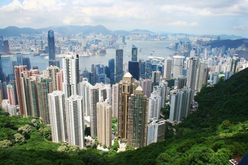 Horizonte de Hong-Kong fotografía de archivo
