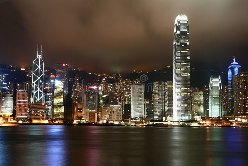 Horizonte de Hong-Kong imagen de archivo