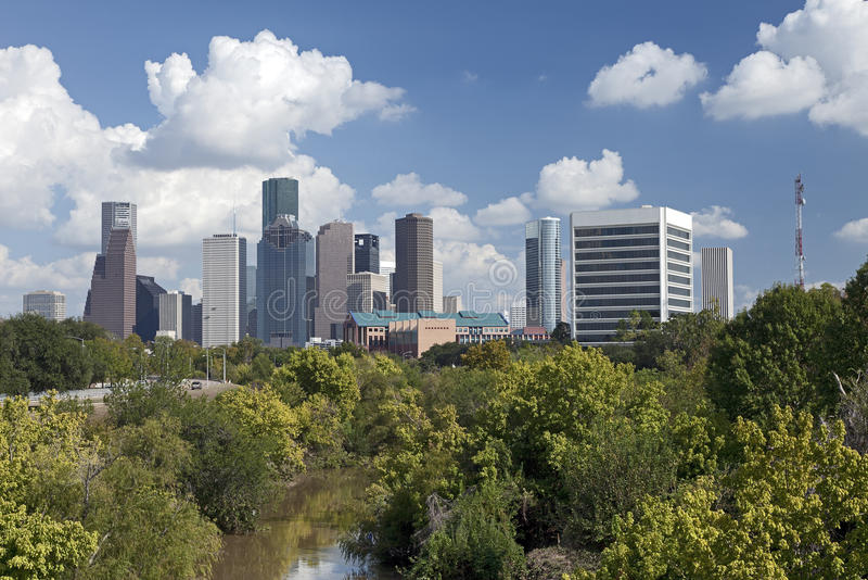Horizonte de Houston, Tejas imagen de archivo