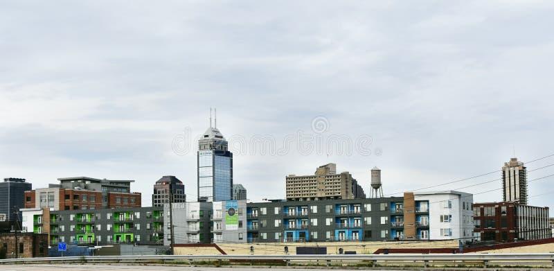 Horizonte de Indianapolis foto de archivo