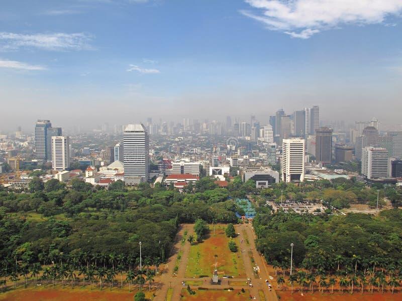 Horizonte de Jakarta foto de archivo libre de regalías