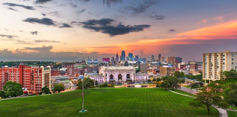 Horizonte de Kansas City, Missouri, los E.E.U.U. fotografía de archivo