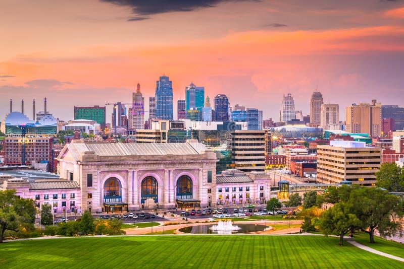 Horizonte de Kansas City, Missouri, los E.E.U.U. fotos de archivo