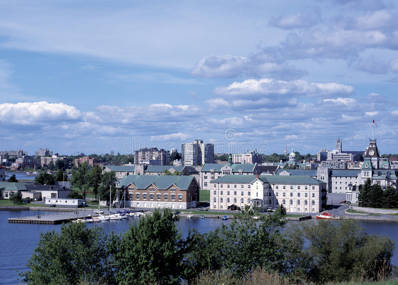Horizonte de Kingston Ontario fotos de archivo libres de regalías