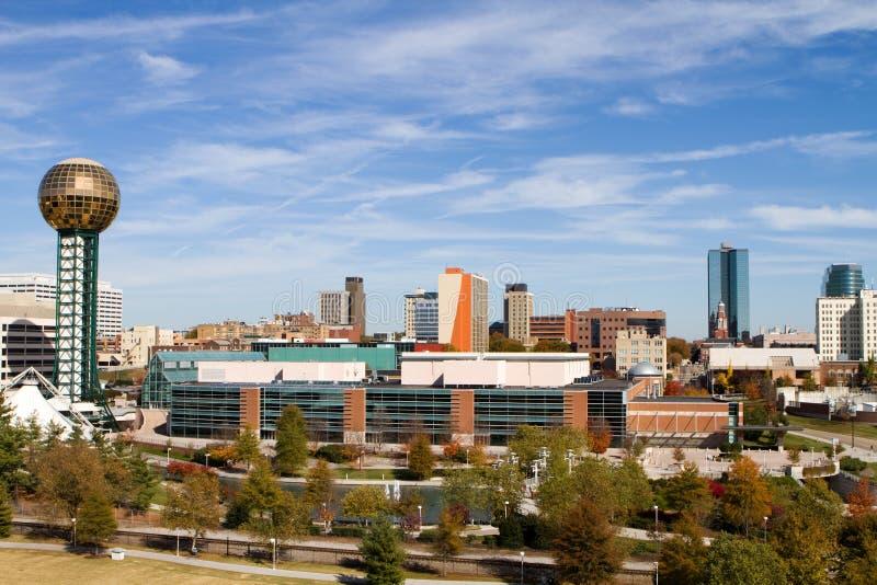 Horizonte de Knoxville Tennessee fotos de archivo