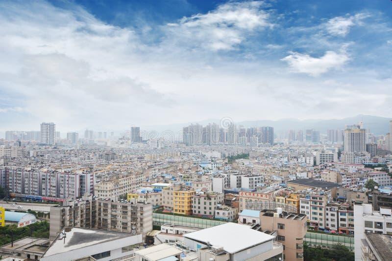 Horizonte de Kunming imagenes de archivo