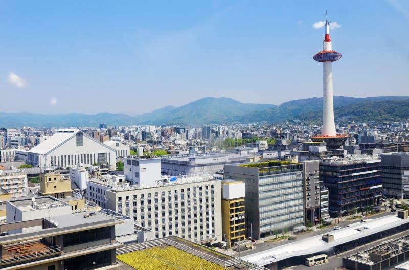 Horizonte de Kyoto, Japón en la torre de Kyoto imagen de archivo libre de regalías