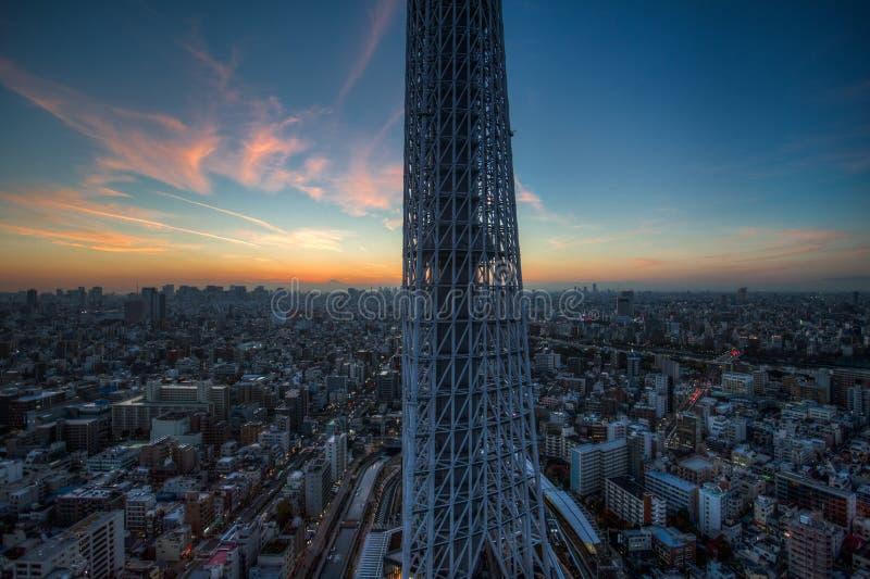 Horizonte de la bahía de Tokio fotos de archivo