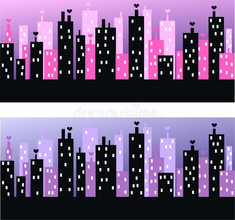 Horizonte de la ciudad ilustración del vector