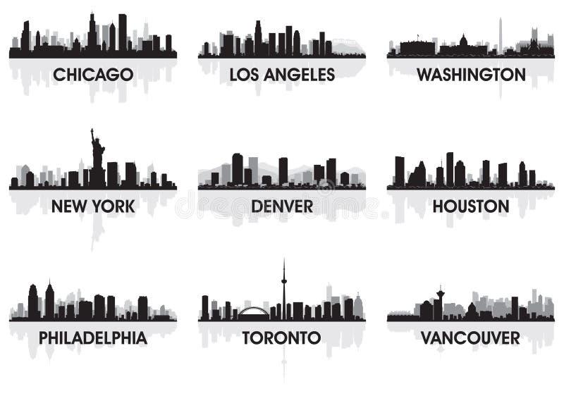 Horizonte de la ciudad stock de ilustración